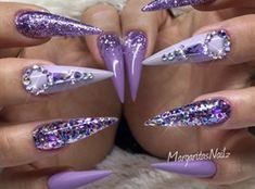 Purple Stilettos  by MargaritasNailz
