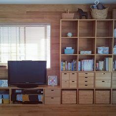 sa_suさんの、収納,ボックスアンドニードル,IKEA,スタッキングシェルフ,無印良品,北欧,棚,のお部屋写真