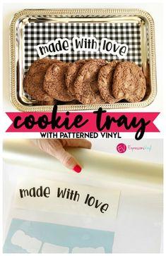 Buffalo Check vinyl cookie tray