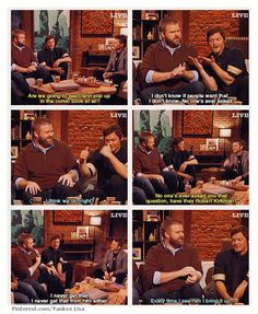 Robert Kirkman & Norman Reedus with Chris Hardwick, The Talking Dead. I wondered the same thing.