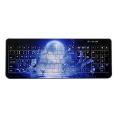 Shop Blue Moonlight Butterflies Wireless Keyboard created by BlueRose_Design. Personalize it with photos & text or purchase as is! Computer Keyboard, Customized Gifts, Moonlight, Butterflies, Vibrant Colors, Custom Design, Usb, Mice, Random Stuff