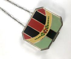 Vintage Compact Dance Purse Art Deco Enamel F.H.S. Co. | Etsy Vintage Gifts, Unique Vintage, Compact, Examples Of Art, Art Deco Necklace, Beaded Purses, Loose Powder, Vintage Purses, Art Deco Design