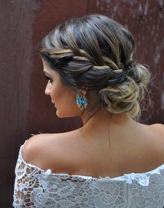 Hair / braids / hairstyles / blonde highlights / brunette hair / beauty / lace / summer trending