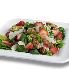 Strawberry Balsamic Grilled Chicken Salad. Ad: Help your school with every bite through the #TysonProjectAPlus program. Simply save participating product labels to redeem for cash! Enroll your school at http://projectaplus.tyson.com/?cmpid=DV_Pinterest