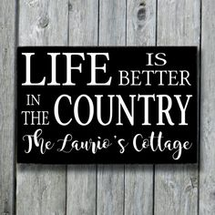 Cabin Cottage Country SignPersonalized Family by doudouswooddesign