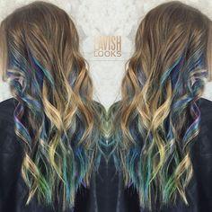 "Lindsay Feldt on Instagram: ""Another angle of my Fashion underlights. Just love this peekaboo color using a mix of @kenraprofessional and @pravana #utahhair #mylavishlooks"""