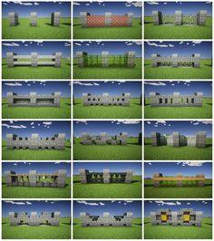 Minecraft Zaun Design Garden fence: types and models Over backyard design diy ideas Villa Minecraft, Minecraft Hack, Architecture Minecraft, Minecraft Building Guide, Minecraft Structures, Amazing Minecraft, Minecraft Blueprints, Minecraft Crafts, Minecraft Designs