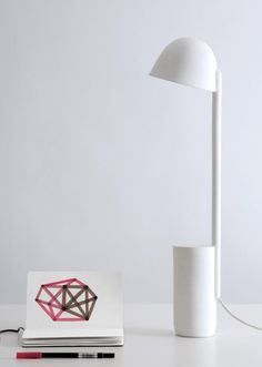 a delicate lamp collection made from ceramica alumina, a highly technical ceramic with subtle qualities.