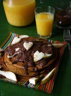 Becoming Alice: Pumpkin Pie Pancakes with Chocolate Ganache {vegan & gluten-free}