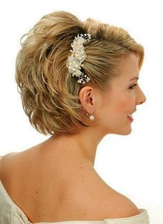 Wedding hair style ideas for short hair.