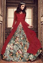 Image result for floral lengha choli