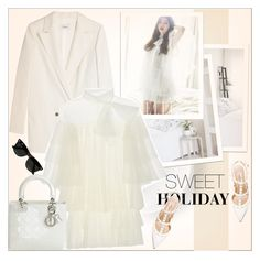 """""""No 268:Sweet Holiday"""" by lovepastel ❤ liked on Polyvore featuring Ganni, Valentino, Christian Dior and Ray-Ban"""