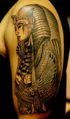 Egyptian Pharoh  Tattoo Sleave.