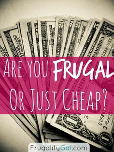 An honest look at our spending habits - when frugality crosses into cheapness.