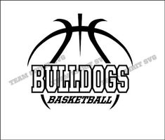 Bulldogs Basketball Outline Download Files SVG by TeamSpiritSVG