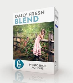 Create clean edits on your photos in a fraction of the time using our bright and clean Photoshop actions in the Daily Fresh Blend Collection.