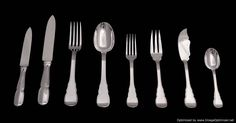 """The Complete Set - An Amazing Sterling Silver Flatware Set by one of the World's Premier French Silversmith - """"Henin Freres"""", Complete Service for with 3 Drawer, Original Custom Made Storage Chest (circa ! Sterling Silver Flatware, Flatware Set, French Antiques, Art Deco, 1940s, Wraps, Tableware, Storage Chest, Drawer"""