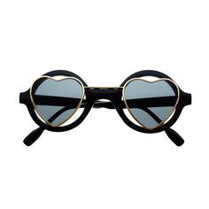 Hippie Heart Shaped Lens Love Retro Style Round Sunglasses R1220