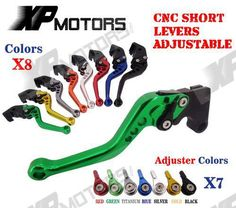 CNC Short Clutch Brake Levers For Kawasaki ZX6R 636 ZX6RR ZX9R ZX10R ZX12R Z1000 #Affiliate