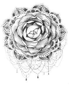 Camellia Mandala by robinelizabethart