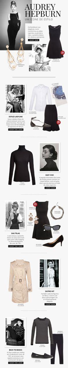 Looks inspirados na diva Audrey Hepburn = muito amor