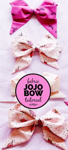 how to make a jojo bow with fabric! - see kate sew how to make a jojo bow with fabric! - see kate sew This FREE TUTORIAL will show you How to Make a Jojo Bow with Fabric. Quick and easy, your girls will love to have these bows in every fun print! Easy Hair Bows, Making Hair Bows, Girl Hair Bows, Girls Bows, Fabric Bow Tutorial, Hair Bow Tutorial, Fabric Hair Bows, Purple Fabric, Ribbon Hair