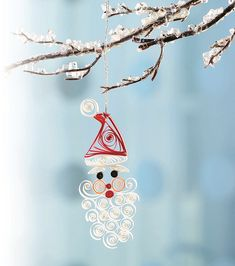Quilled Santa Ornament | A project designed by Ann Martin fo… | Flickr