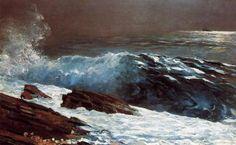 "artist-homer: "" Sunlight on the Coast, 1890, Winslow Homer Medium: oil, canvas"""