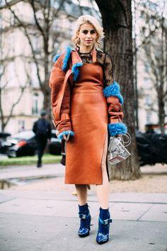 Paris Fashion Week Fall 2017 Street Style.