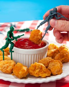 Toy Soldier Food Picks