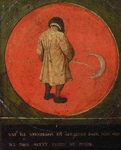 "THE EGOIST — alfiusdebux: ""To piss against the moon"", from. Pieter Brueghel El Viejo, Pieter Bruegel The Elder, Renaissance Artists, Dutch Golden Age, Hieronymus Bosch, Good Night Moon, Albrecht Durer, Dutch Artists, Medieval Art"