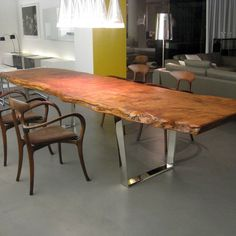 raw wood dinning tables - Google Search