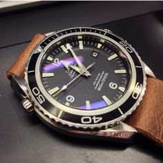 Name: Nathan Watch: Omega Planet Ocean 45.2mm 2005/6 on a Hollows Leather, Horween Chromexel ZULU strap Location of shot At work in Haymarket, Sydney You and watches I've always been into…