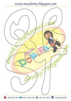 Aqui les dejo este tipo de letra muy lindo que por cierto tiene mi apellido, espero la disfruten y sea de su agrado, les agradecería compart... Felt Name Banner, Name Banners, Lettering Design, Hand Lettering, Alphabet Templates, Bubble Letters, Cartoon Kids, Stencils, Diy And Crafts