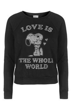 Love Is Snoopy Sweatshirt by Daydreamer