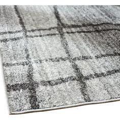 "Mercury Row Zuri Chalkboard Checkers Light Gray Area Rug Rug Size: 7'6"" x 9'6"""