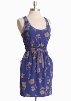 Tuscan Sun Floral Dress in Blue $38