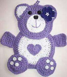 Easy Crochet Ideas For Useful Crochet Creations - apple club Crochet Teddy, Crochet Bear, Love Crochet, Crochet For Kids, Crochet Dolls, Crochet Flowers, Easy Crochet, Crochet Applique Patterns Free, Baby Knitting Patterns
