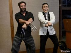 Hugh Jackman Psy Wolverine Gagnam Style