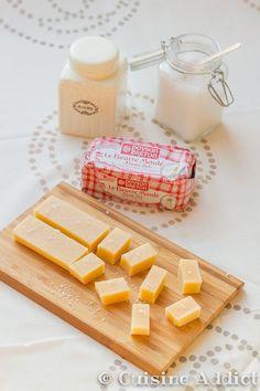 Avec seulement 3 ingrédients, réalisez facilement de délicieux caramels mous au beurre salé. Recette au Cooking Chef incluse.:
