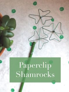 Such luck! An easy craft from paperclips for St. Patrick's Day.