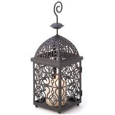 Mesmerizing swirls of matte black metal seem to dance in a candle's flickering light, lending drama to this elegantly functional decor piece. A fascinating fashion statement indoors or out! Weight 0.9