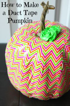 How to make a duct tape pumpkin. Perfect for Halloween! Fall Halloween, Halloween Crafts, Holiday Crafts, Halloween Decorations, Holiday Ideas, Halloween Ideas, Fall Crafts, Fall Decorations, Holiday Fun