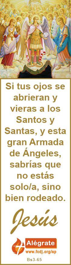 Si tus ojos se abrieran y vieras a los #Santos y #Santas, y esta gran #Armada de #Ángeles, sabrías que no estás #solo/a, sino bien rodeado. #jesus #citadeldia