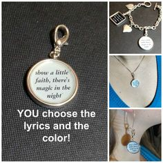 Bruce Springsteen The River charm necklace by borntolovebruce