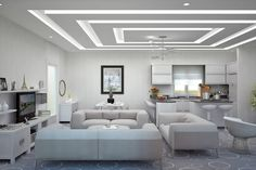 The Five Elements of a Perfect In-Ceiling Screen Installation - False Ceiling Ideas - Gypsum Ceiling Design, House Ceiling Design, Ceiling Design Living Room, False Ceiling Living Room, Bedroom False Ceiling Design, Ceiling Light Design, Home Ceiling, Home Room Design, Ceiling Decor