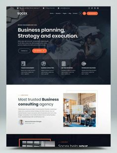 Corporate Website Design, Business Web Design, Website Design Layout, Wordpress Website Design, Web Business, Website Designs, Web Layout, Layout Design, Wordpress Theme