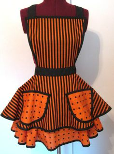 Image detail for -Halloween Betty Apron - To Cute Too Goul-Halloween Apron