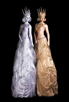 Silver Statues & Gold Statues - Human Statue   London   South East   UK - Gold Stilt Walkers & Silver Stilt Walkers Stilt Costume, Fancy Dress, Dress Up, Fire Festival, Living Statue, London Free, Walkabout, Costume Design, Fashion Show