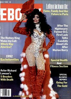 Latoya Jackson Ebony Magazine 1992, via Flickr.